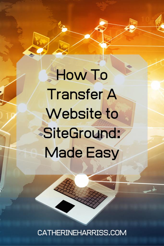transfer a website to siteground